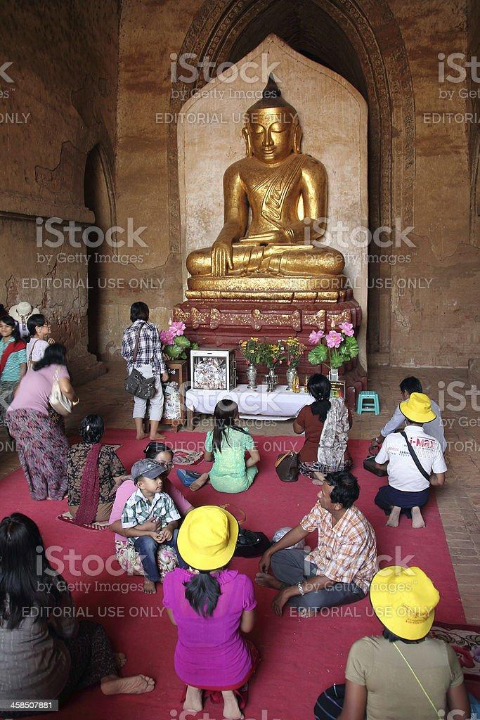 worshipping the buddha royalty-free stock photo