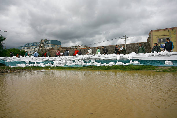 worst flooding on record across the balkans in serbia - belgrade serbia stock photos and pictures