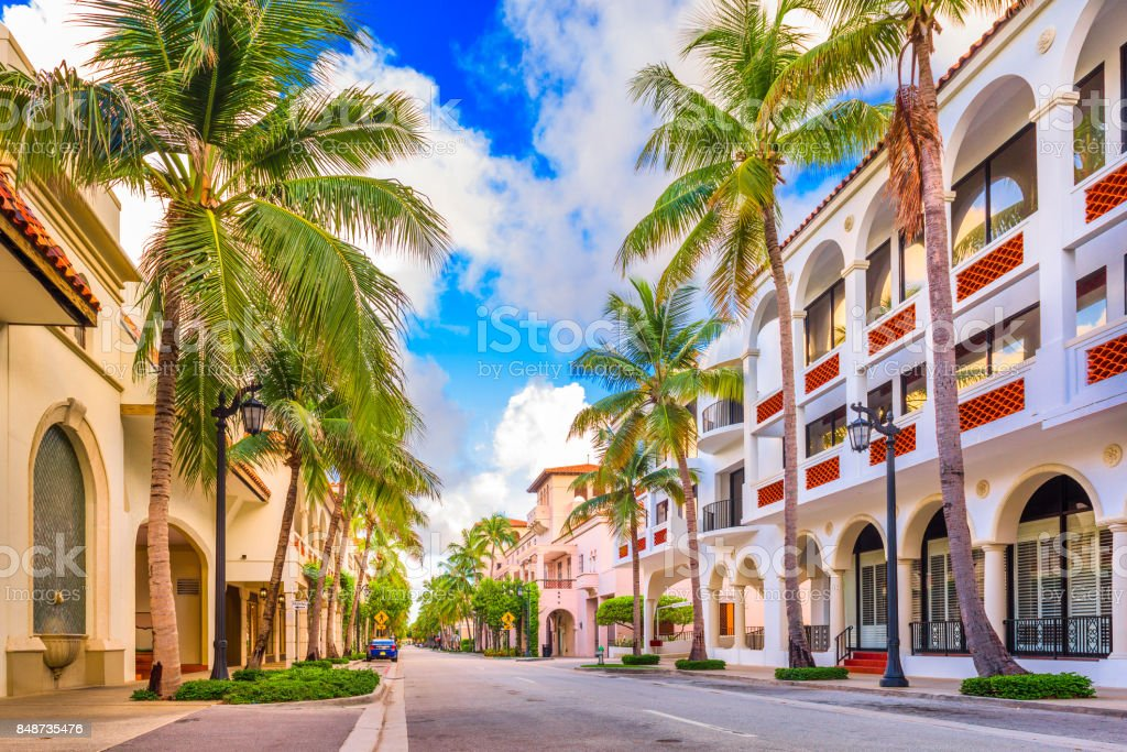 Worth Ave Palm Beach stock photo