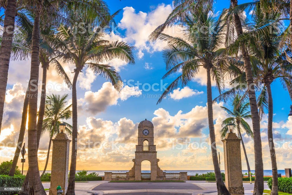 Worth Avenue Palm Beach stock photo