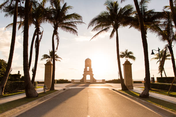 Worth Avenue Palm Beach stock photo