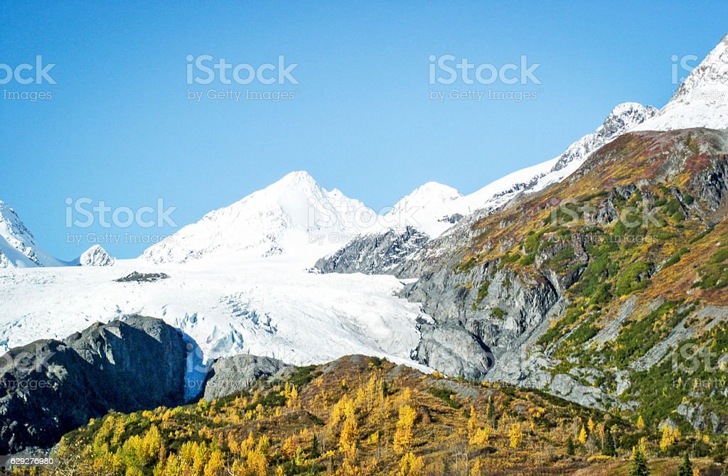 Worthing Glacier stock photo
