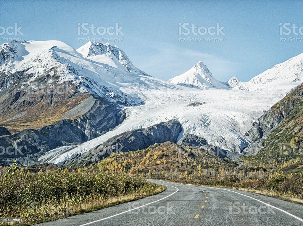 Worthington Glacier - Alaska stock photo
