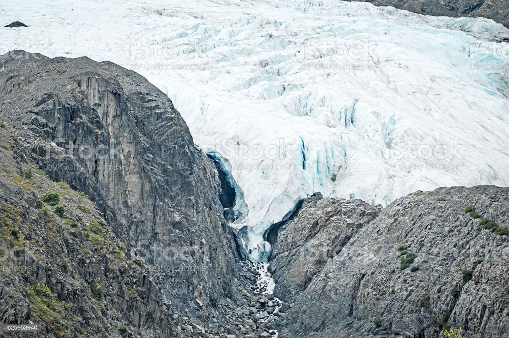 Worthington Glacier flow stock photo