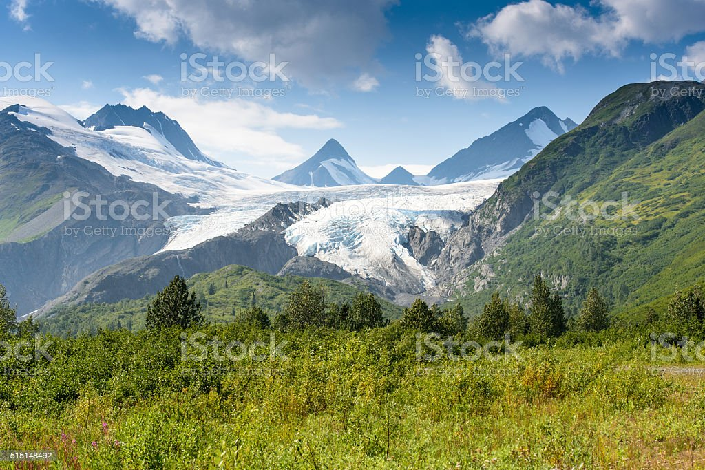 Worthington Glacier in Alaska stock photo