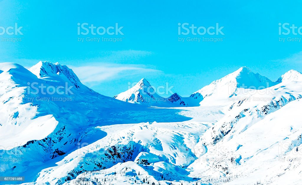 Worthington Glacier in Wintertime stock photo