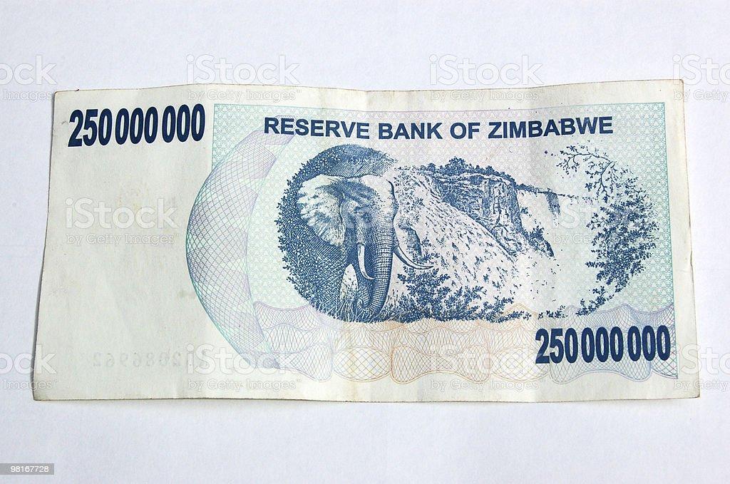 Worthless Zimbabwe currency royalty-free stock photo