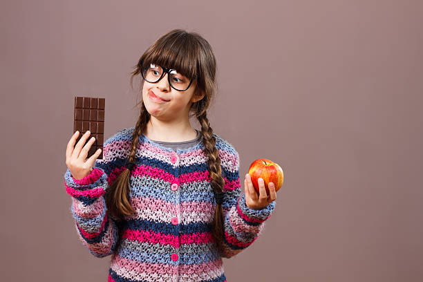 I would rather eat chocolate ! stock photo