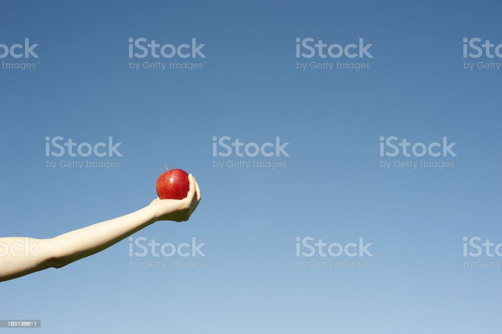 Would you like an apple - horizontal stock photo