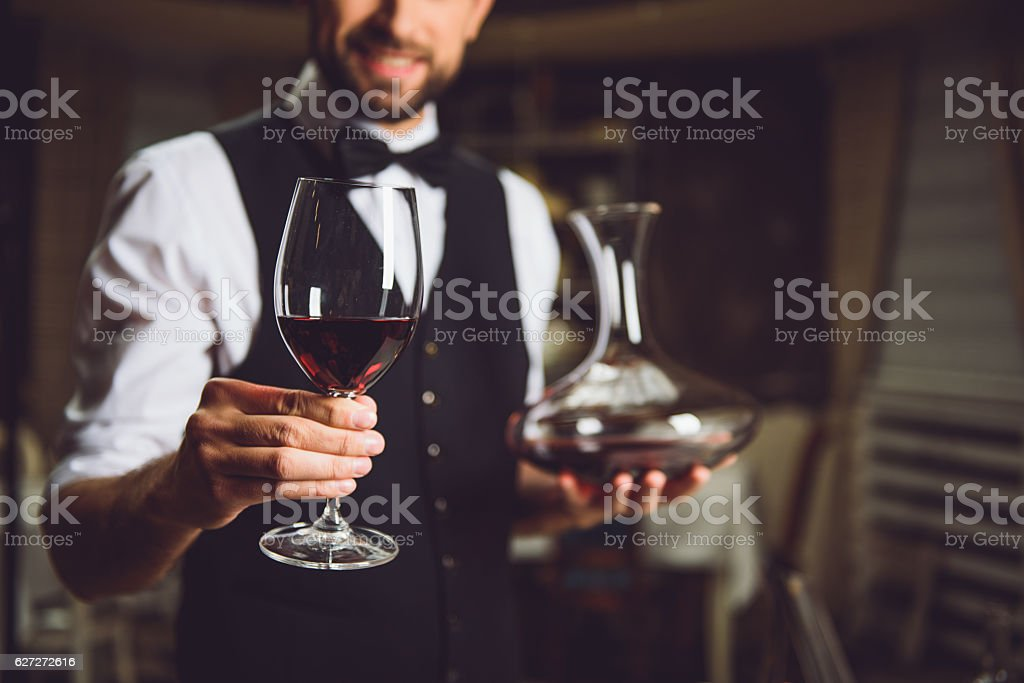 Would you like to drink scarlet wine stock photo