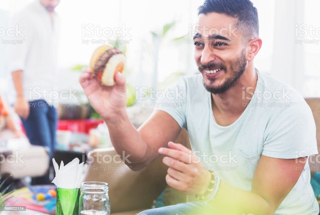 Would you like to try this tasty burger stock photo