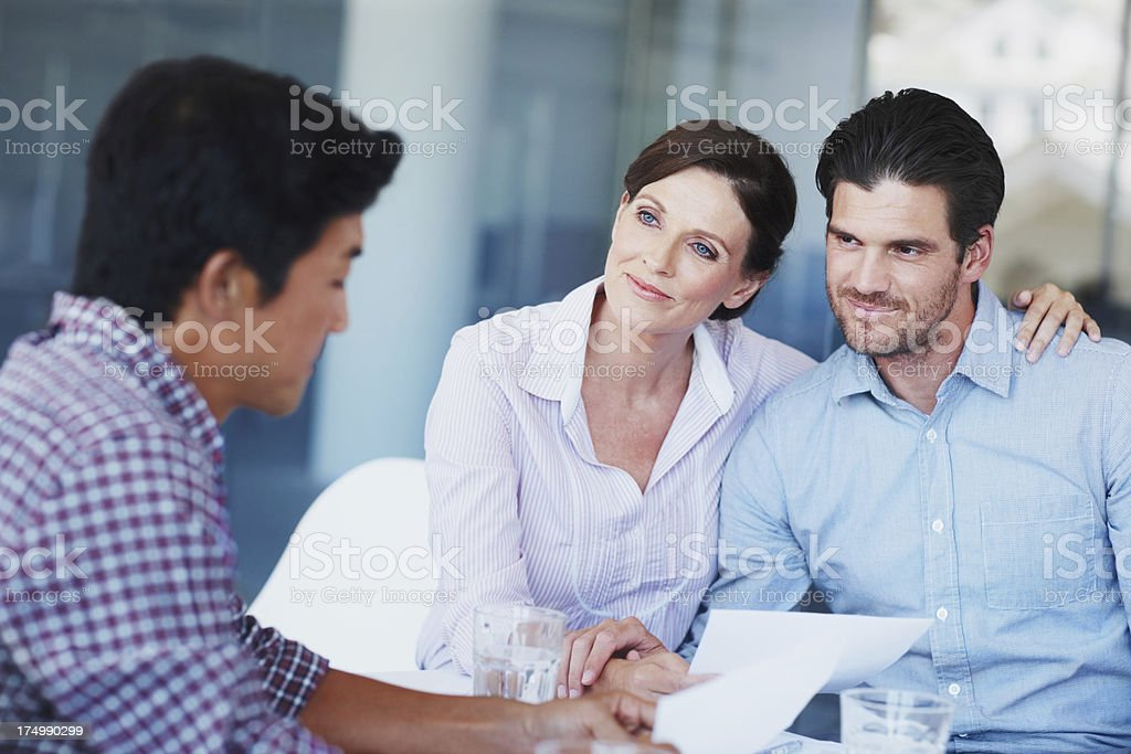 Would you mind looking over our contract please royalty-free stock photo