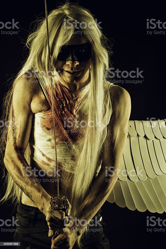 Wounded Angel stock photo