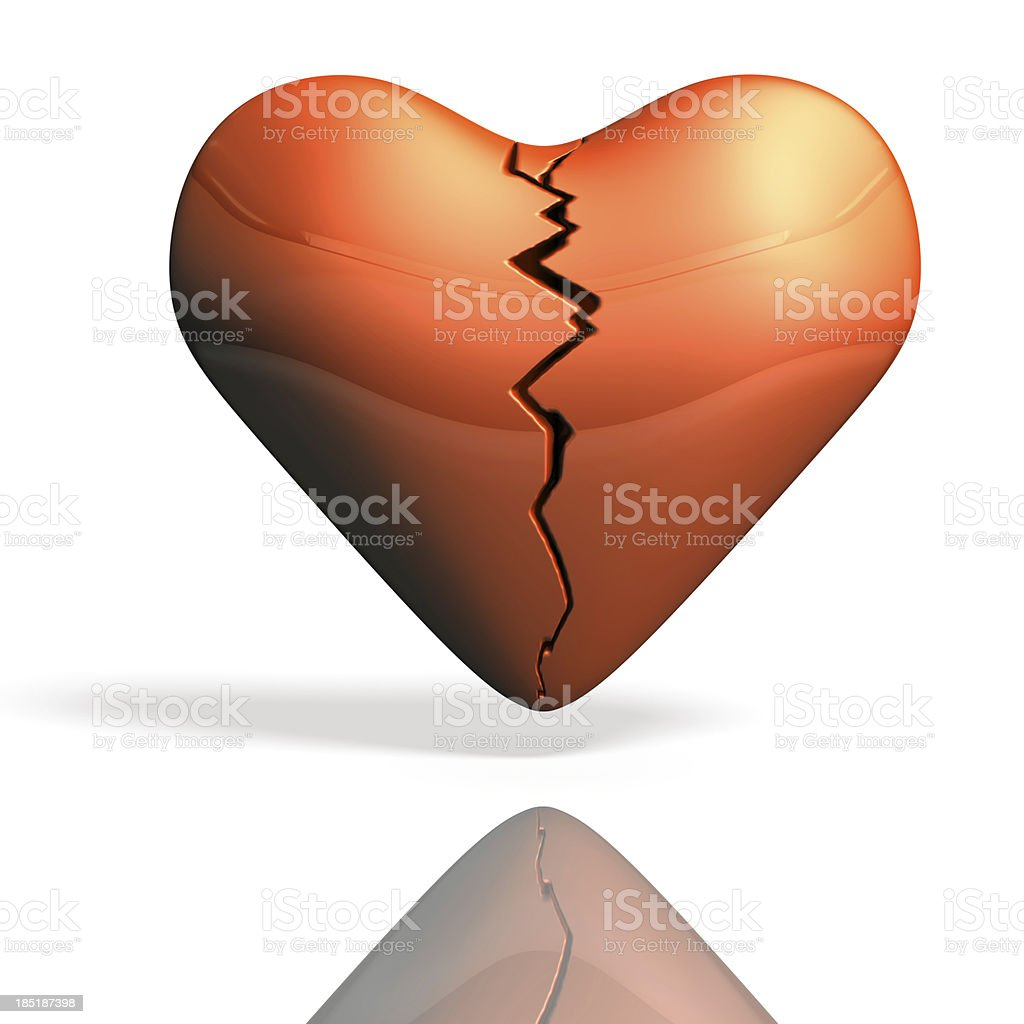 Wounded heart torn. royalty-free stock photo