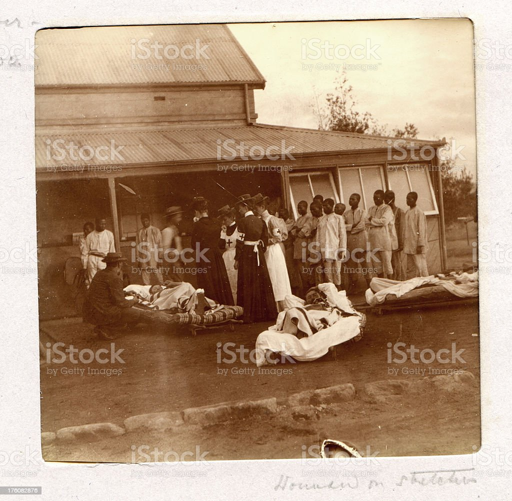 Wounded Troops - Boer War 19th Century Vintage Photograph stock photo