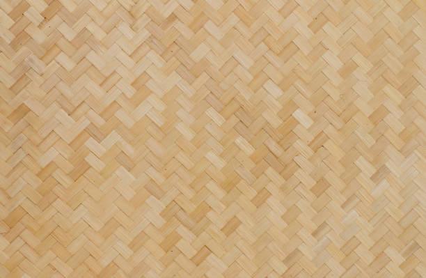 Gewebtes Bambus-Hintergrund – Foto