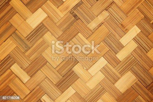istock Woven bamboo pattern background 621716208