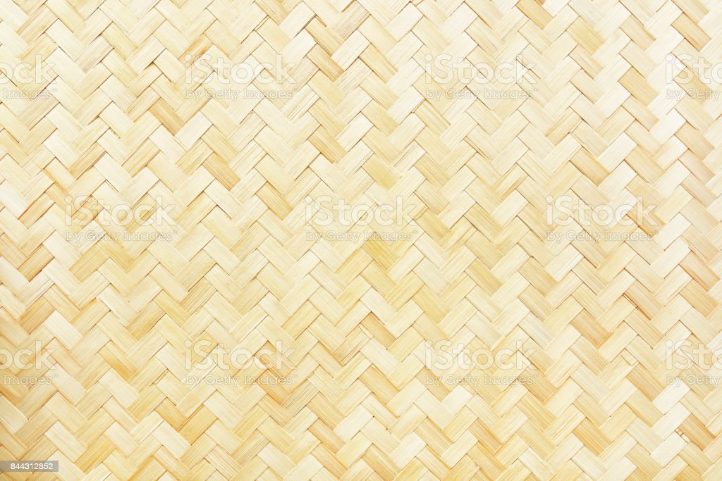 woven bamboo texture for pattern and background stock photo