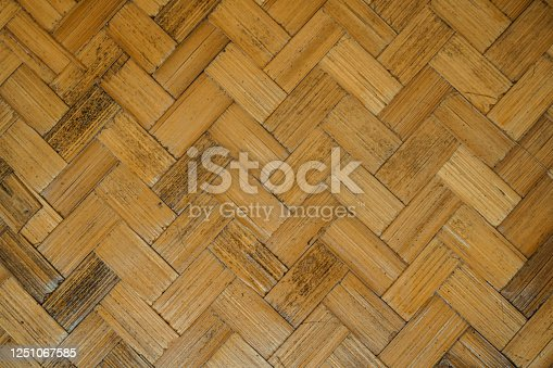 Woven bamboo wall texture background
