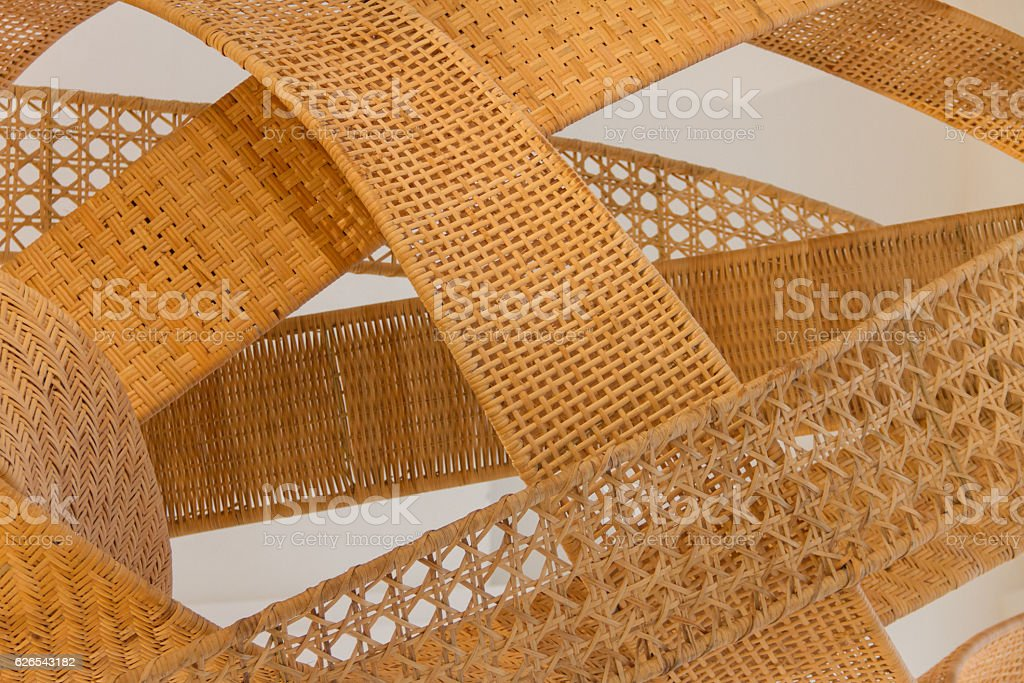 Woven bamboo wallpaper stock photo