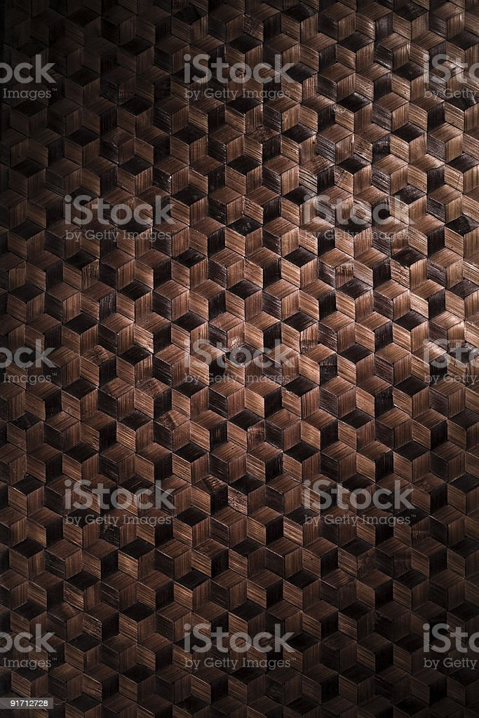 Woven bamboo wood background texture royalty-free stock photo