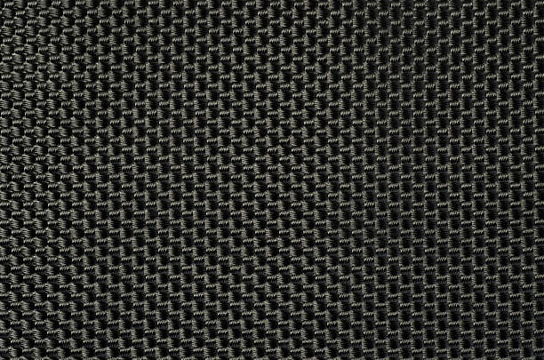 woven black webbing. - nylon texture stock pictures, royalty-free photos & images
