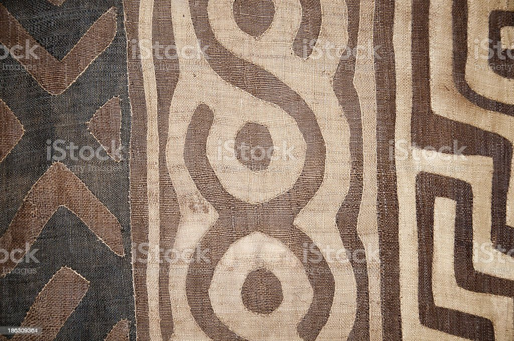woven blanket with abstract african pattern stock photo