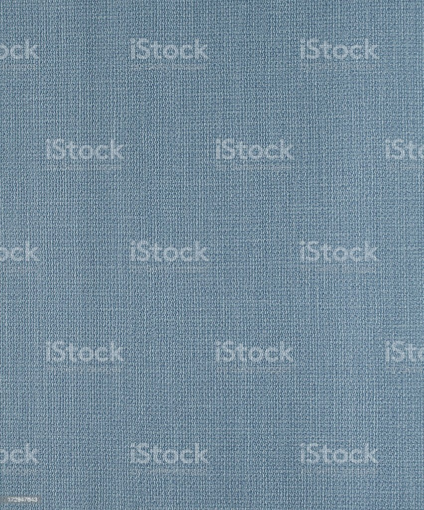 A woven blue fabric texture possibly linen or canvas royalty-free stock photo