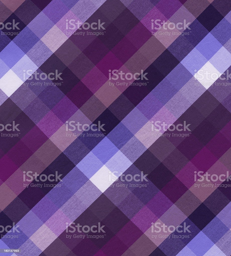 woven cotton fabric with plaid pattern stock photo