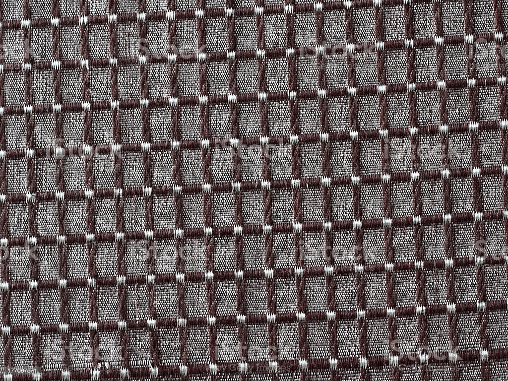 Woven Fabric with Squares stock photo