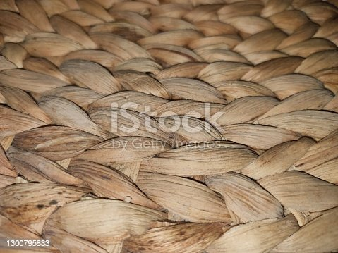 A woven handcrafted from the hyacinth plant