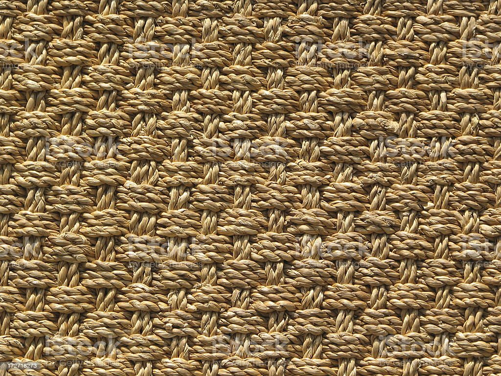 Ruge in beige woven textile for use as a background.