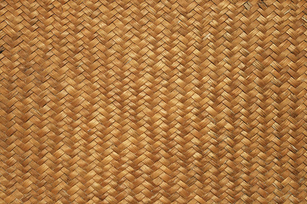 woven mat background stock photo