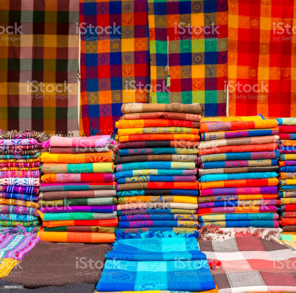 Woven Material As Background Pattern stock photo