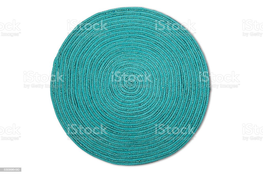 Woven Place Mat With Clipping Path stock photo