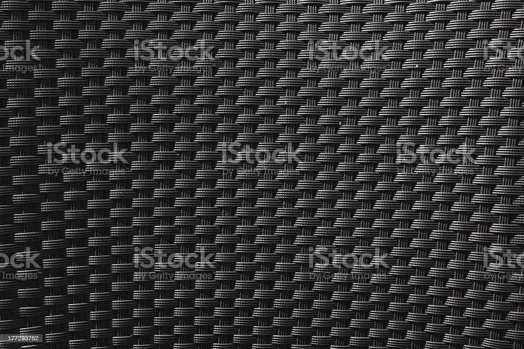 Woven plastic chair stock photo
