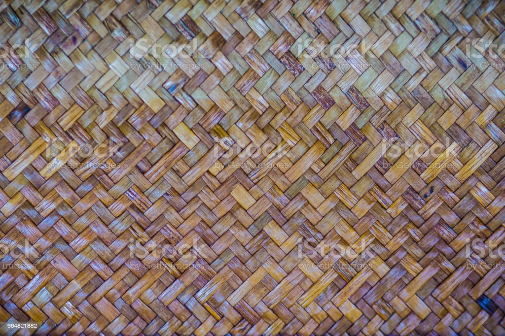 Woven rattan pattern for background. Texture of rattan handicraft detail. royalty-free stock photo