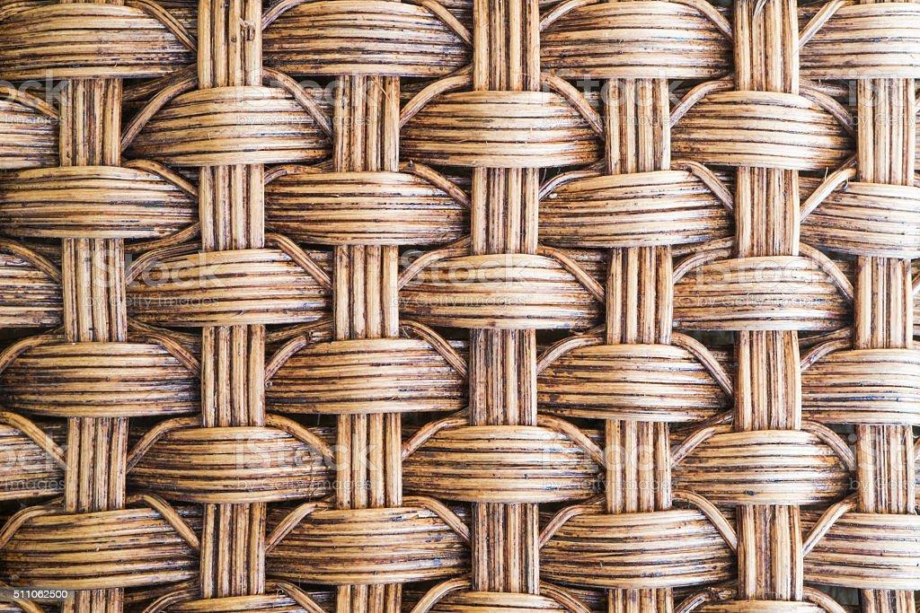 Woven rattan texture background stock photo