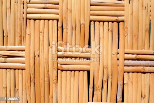 Close-up of some woven reeds.