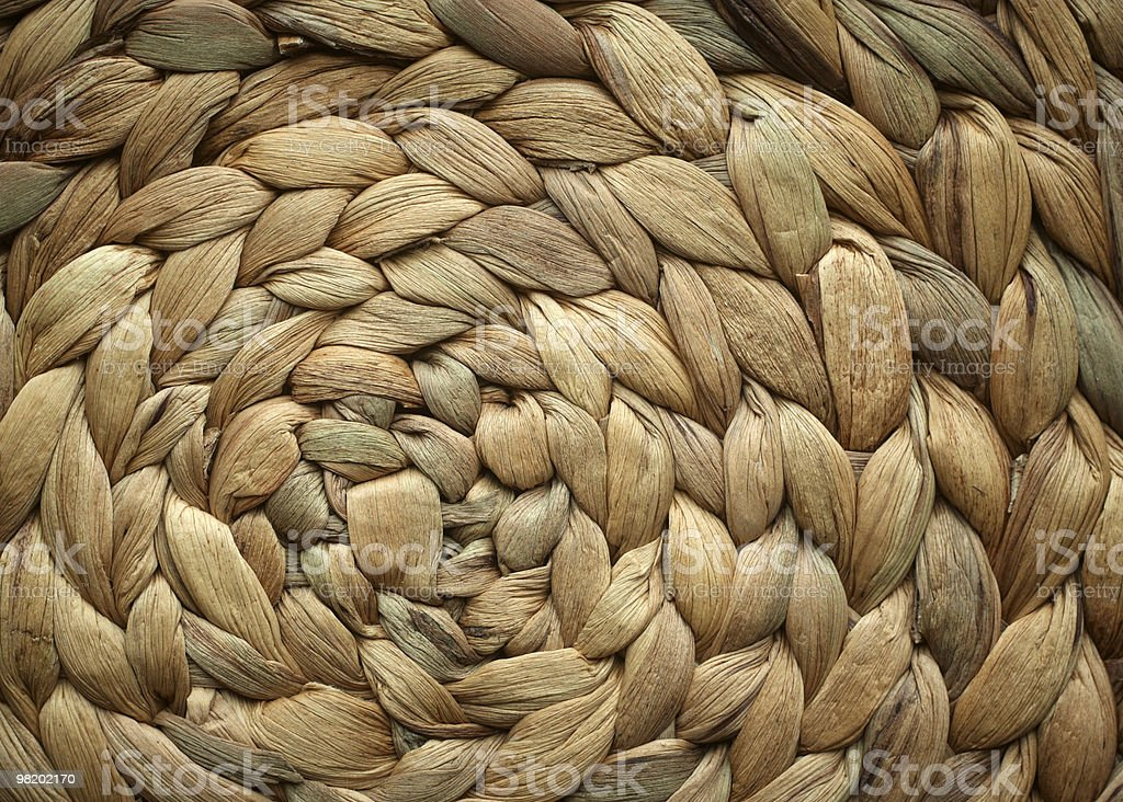 Woven round basket texture royalty-free stock photo