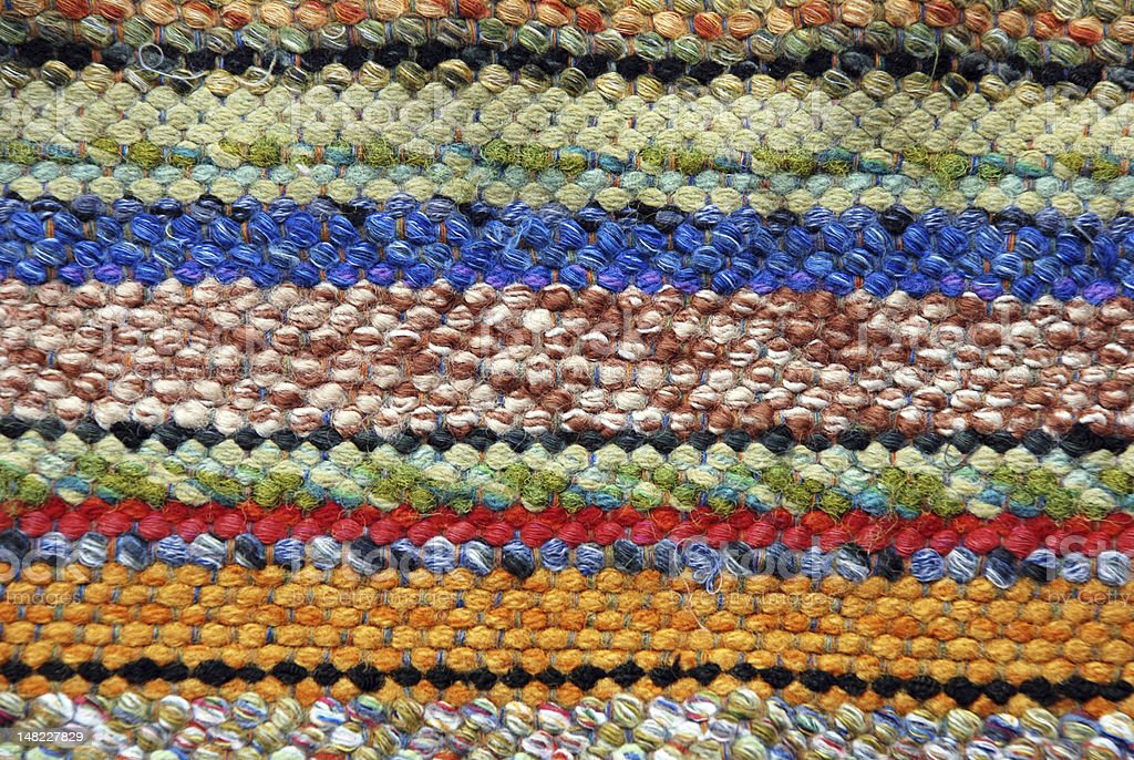 Woven rug royalty-free stock photo
