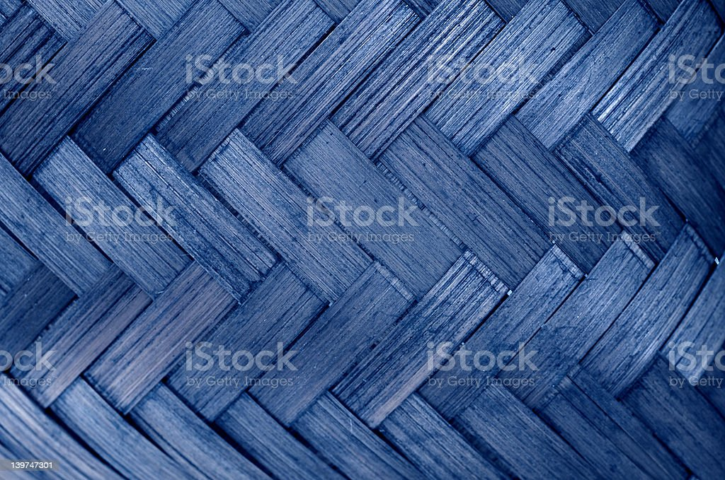 Woven rush basket. royalty-free stock photo
