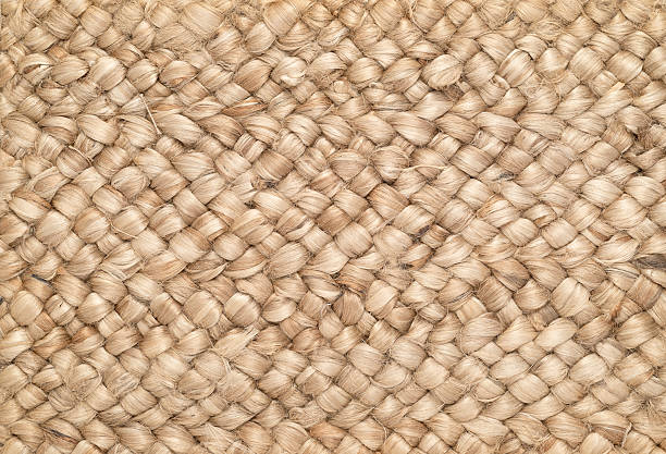 woven sisal & wool rug background - sisal stock pictures, royalty-free photos & images
