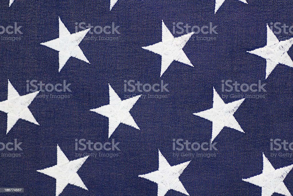 Woven Stars on American Flag royalty-free stock photo