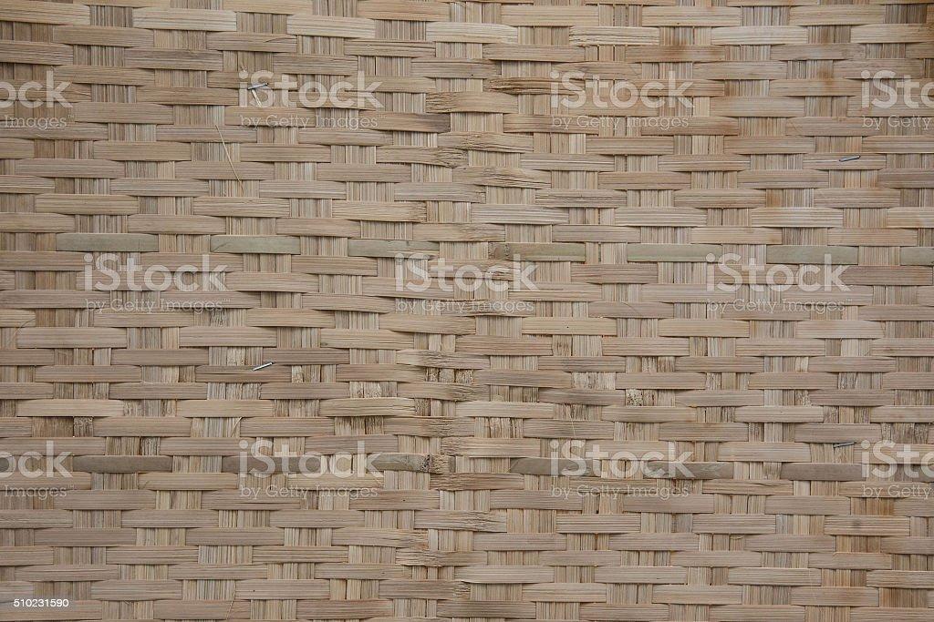 woven wood pattern thai style stock photo