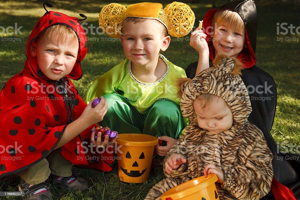 Wow! A lot of candies! royalty-free stock photo