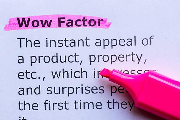 wow factor stock photo