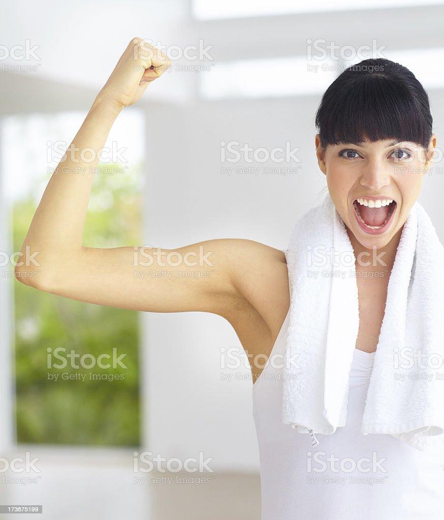 Wow! I did it! royalty-free stock photo