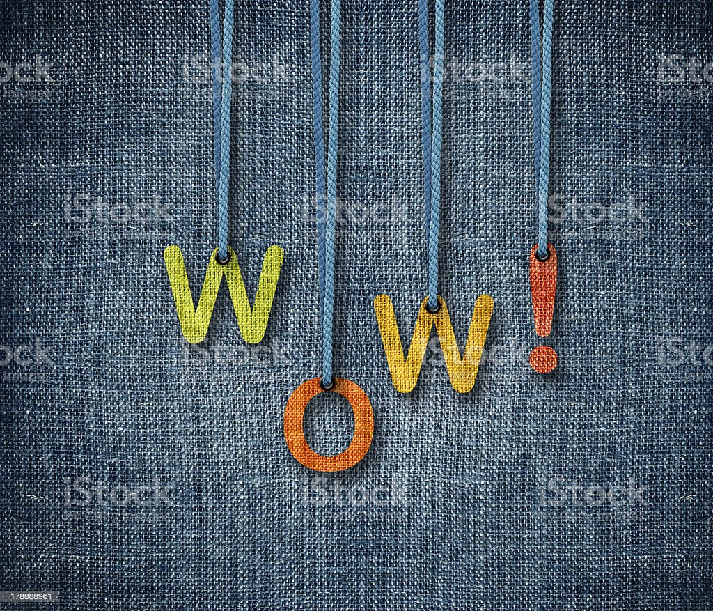 Wow royalty-free stock photo