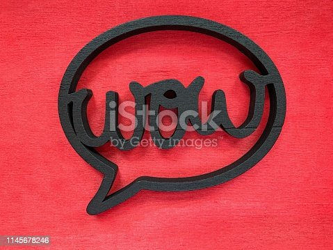 Wow speech bubble on red background
